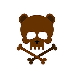 Cute bear skull with bones Honey bear good vector image vector image