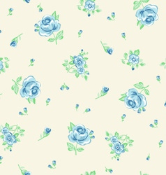 ditsy blue roses vector image vector image