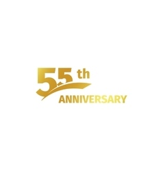 Isolated abstract golden 55th anniversary logo on vector