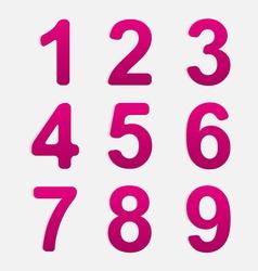 Number Set vector image