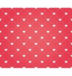 Seamless pattern of hearts on a red background vector image vector image
