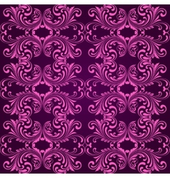Vertical purple ornamental background vector image vector image