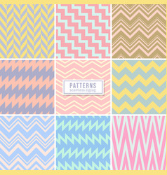 cute wedding pink seamless patterns vector image