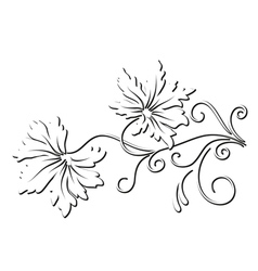Decorative leaves vector image