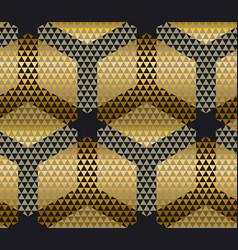 elegant modern creative geometry background gold vector image
