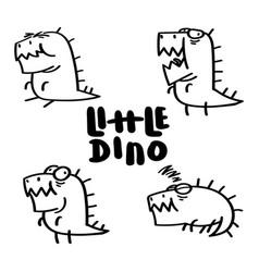 little dino set vector image