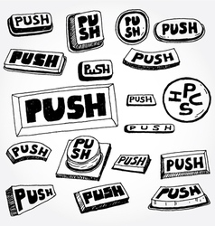 push buttons vector image vector image