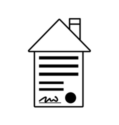 Real estate contract buy house outline vector