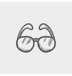 Sunglasses sketch icon vector image