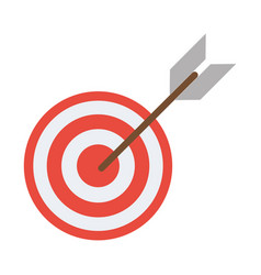 target arrow strategy market vector image vector image