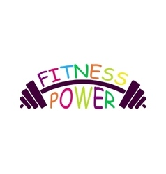 Stock fitness power logo vector image vector image