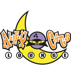 Alley Cats Lounge Bar vector image vector image