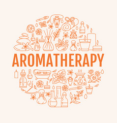aromatherapy and essential oils circle template vector image