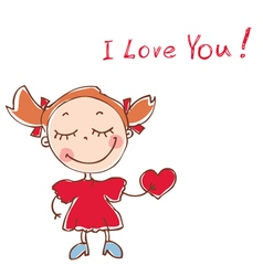 funny doodles girl vector image