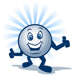 Golf Ball Character vector image vector image