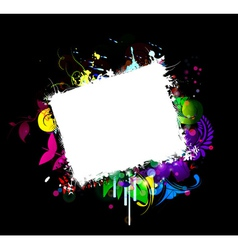 grunge frame with abstract background vector image vector image