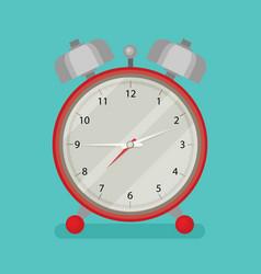 alarm clock icon flat design style vector image