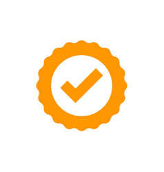 approved certificate medal icon in flat style vector image