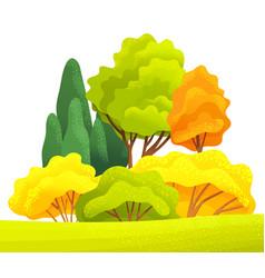 autumn or summer season cartoon country landscape vector image