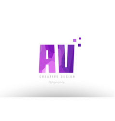Av a v pink alphabet letter logo combination with vector