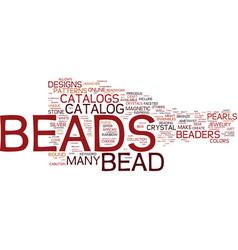 Bead crafts text background word cloud concept vector