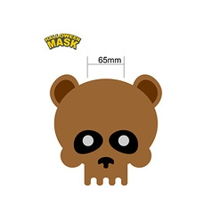 Bear skull mask masquerade for halloween o vector