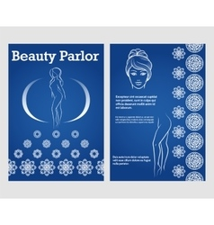 Beauty woman face and legs flyer template vector image