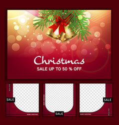 Black friday social media post template for vector