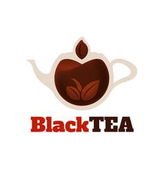 black tea logo template vector image