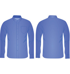 blue long sleeve shirt vector image