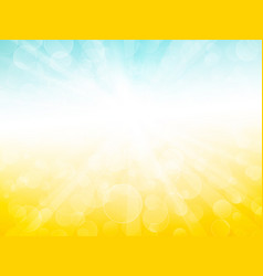 blue yellow sky ray background vector image