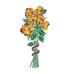 Bouquet of golden roses vector image
