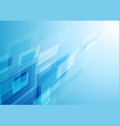 bright blue hi-tech abstract background vector image