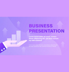 business presentation background vector image