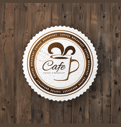 Cafe round sign vector