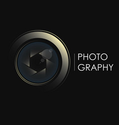 camera lens concept for photographer vector image
