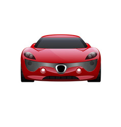 Car on white background business sport car vector