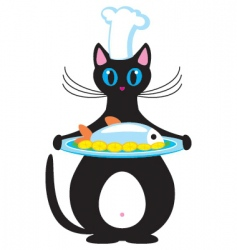 Cat the cook vector