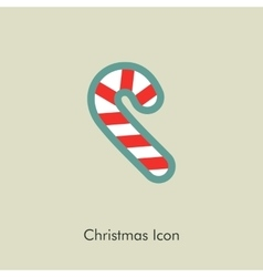 Christmas Candy Cane icon vector image