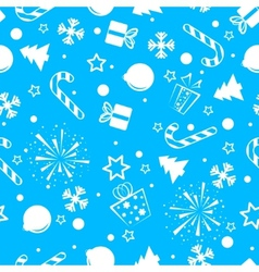 Christmas seamless background blue vector image