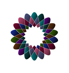circular multicolored pattern spirographic symbol vector image