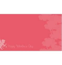 Cupid with tree backgrounds vector