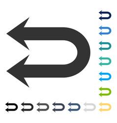Double left arrow icon vector
