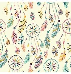 Dream catcher seamless pattern vector