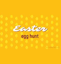easter egg hunt card seamless pattern vector image