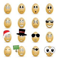 Egg set cartoon vector