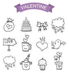 Element valentine day icons vector