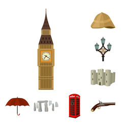 england country cartoon icons in set collection vector image
