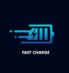 fast charge logo icon design vector image