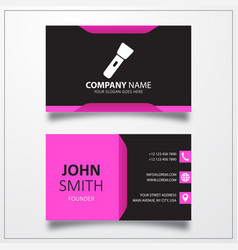 flashlight icon business card template vector image